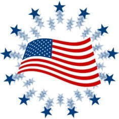 free american flag clip art free clipart of the american flag 300 300